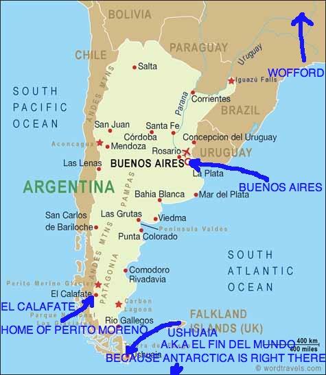 Benjamin Green Buenos Aires Argentina - Map 0f argentina