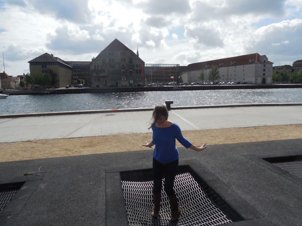 Copenhagen has a bunch of urban parks - this one, which we found while running around on a scavenger hunt, has trampolines!