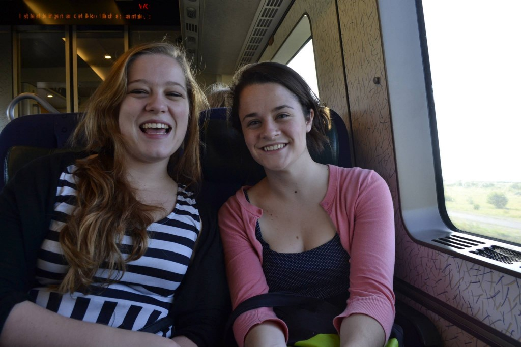 Me & Tia (the neuroscience friend) on the train to Sweden