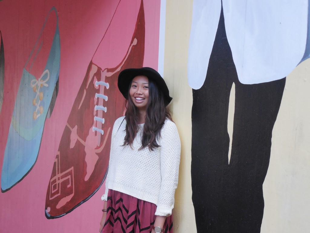 My friend Kelsey looking super cute in front of some street art
