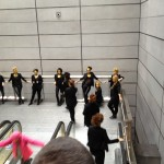 Flash mob at the Metro