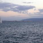 Haifa in the Background