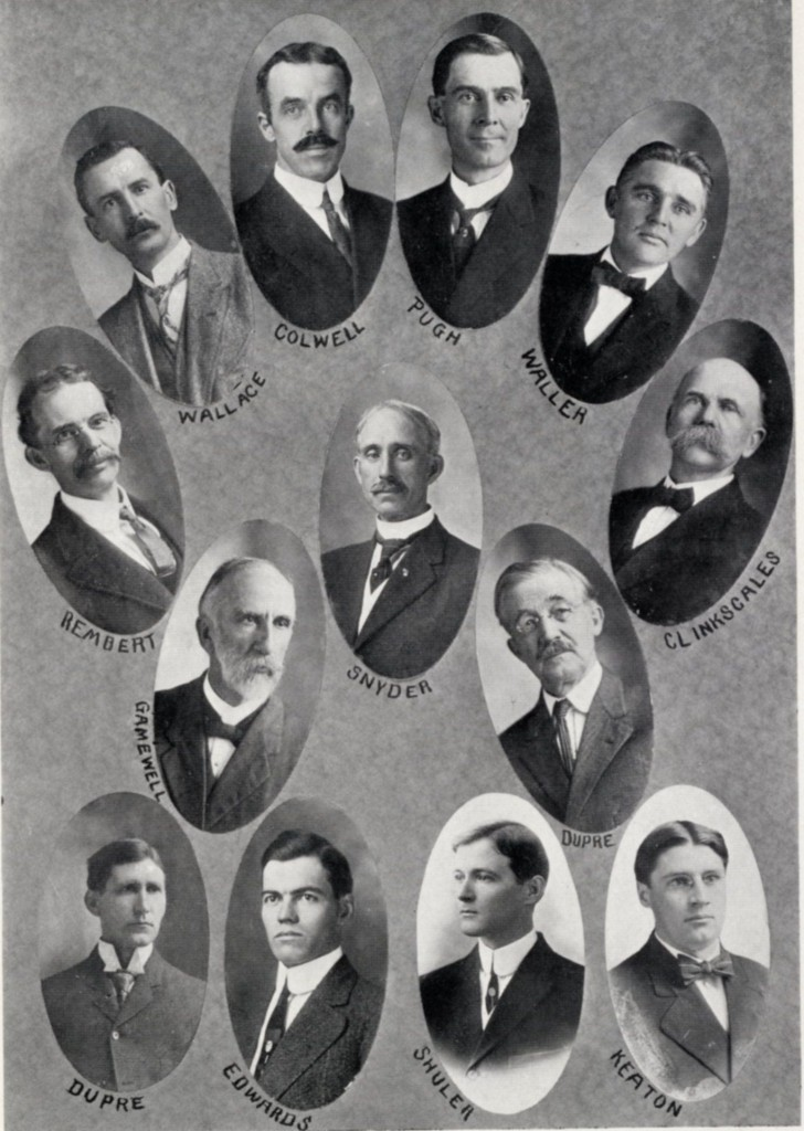 Wofford's 1912 faculty