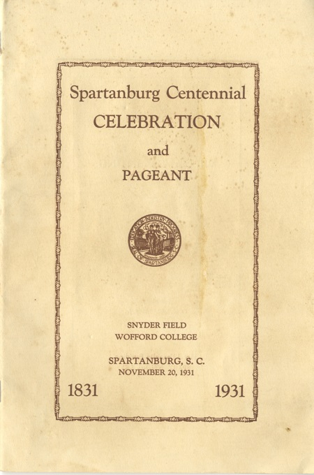 Spartanburg's Centennial Pageant Program