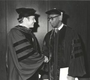 Bishop James S. Thomas with Wofford President Paul Hardin III