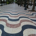 Beautiful tile walk along the ocean in Alicante