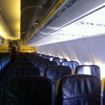 The cabin of our Ryanair flight