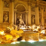 Trevi Fountain at nighttime