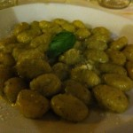 Yummy gnocchi with pesto sauce