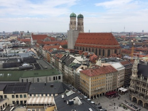 View from St. Peter's Church Tower (the Dom is the tallest building)